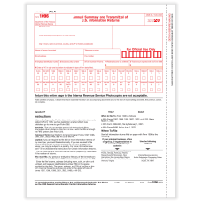 ComplyRight 1096 Transmittal Tax Forms Laser
