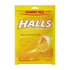 Halls Honey Lemon Cough Drops 80