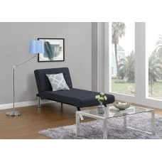 DHP Emily Chaise Lounger Linen Navy