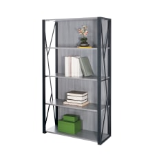 Safco Mood 4 Shelf Bookcase Gray
