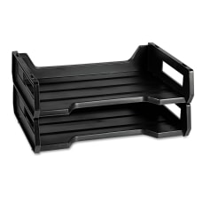 Desk Trays Letter Size Black Pack