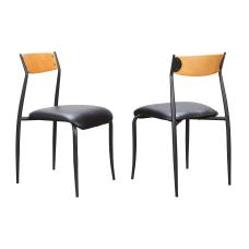 Linon Palmer Metal Side Chairs BlackLight