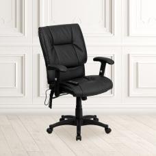 Flash Furniture Ergonomic Bonded LeatherSoft Mid