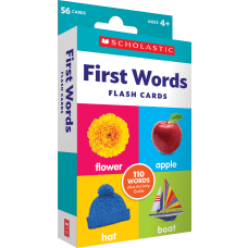 Scholastic First Words Flash Cards 6
