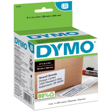 DYMO White LabelWriter Shipping Labels 30256