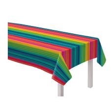 Amscan Serape Stripe Flannel Backed Vinyl