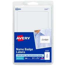 Avery Self Adhesive Name Badges Plain