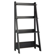 Bush Furniture Alamosa Ladder Bookshelf Classic