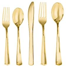 Amscan Premium Plastic Dinner Cutlery Set
