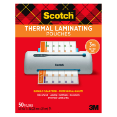 Scotch Thermal Laminating Pouches 9 516