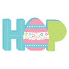 Amscan Easter Hop Mini Standing Signs