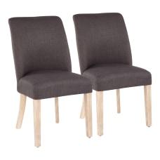 LumiSource Tori Dining Chairs WhiteGray Set