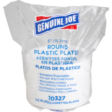 Genuine Joe ReusableDisposable 6 Plastic Plates