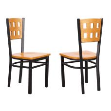 Linon Alcera Metal Side Chairs BlackMedium