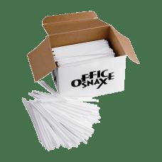 Office Snax Breakroom Stir Sticks White