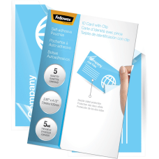 Fellowes Self Adhesive Pouches Business Card