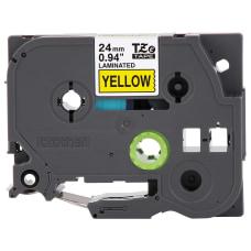 Brother TZe 651 Black On Yellow