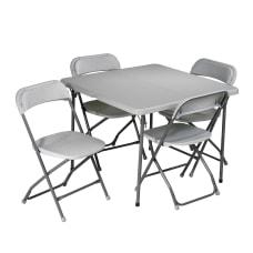Work Smart 5 Piece Folding Table