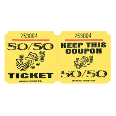 Amscan 5050 Ticket Roll Yellow Roll