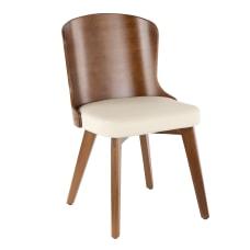 LumiSource Bocello Chair WalnutCream
