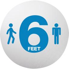 Lorell 6 Feet Personal Spacing Floor