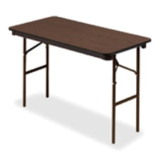 Iceberg Economy Rectangle Folding Table WalnutCharcoal