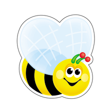 TREND Mini Accents 3 Bees BlackYellow