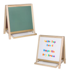 Flipside Magnetic Dry Erase WhiteboardChalk Table