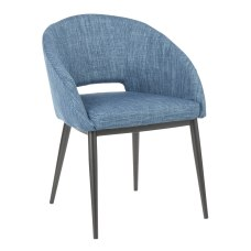 LumiSource Renee Chair BlackBlue