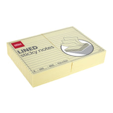 Office Depot Brand Lined Sticky Notes