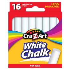 Cra Z Art Classroom Chalk White