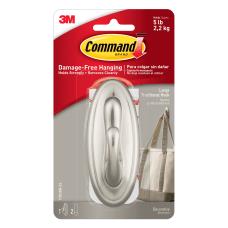 Command Large Brushed Nickel Hook Damage