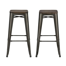 DHP Fusion Backless Bar Stool Brown