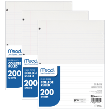 Mead Notebook Filler Paper 8 x