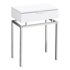 Monarch Specialties Accent Table Rectangular WhiteChrome