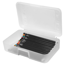 Advantus Gem Polypropylene Pencil Box With