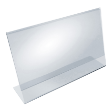Azar Displays Acrylic Horizontal L Shaped