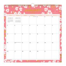 Day Designer Wall Calendar 12 x