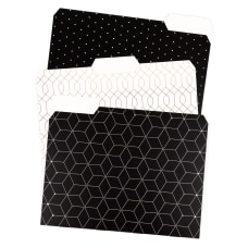 U Brands Fashion File Folders Letter