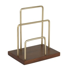 Realspace WoodenMetal Letter Sorter 7 34