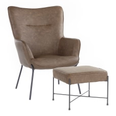 LumiSource Izzy Industrial Lounge Chair And