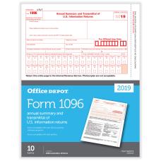 Office Depot Brand 1096 Laser Tax