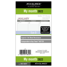 AT A GLANCE 2022 Monthly Planner