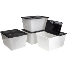 Storex Storage Totes With Folding Lids