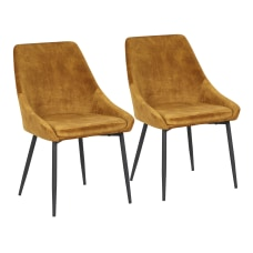 LumiSource Diana Chairs Golden Yellow SeatBlack