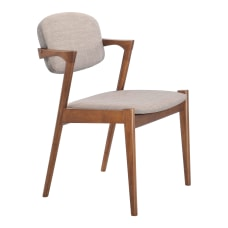 Zuo Modern Brickell Dining Chairs GrayWalnut
