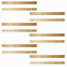 Charles Leonard Wood Hanging Meter Sticks