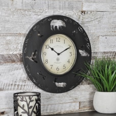 FirsTime Lodge Round Wall Clock 11