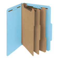Smead Pressboard Classification Folders 3 Dividers