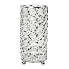 Elegant Designs Ellipse Crystal Decorative Vase